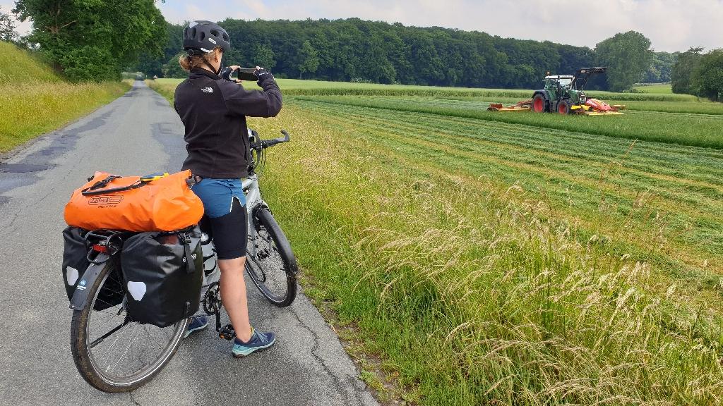 Dag 3 fietsen naar Berlijn, trekkers kieken