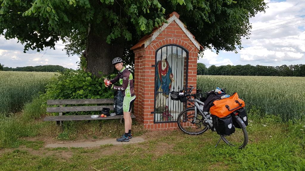 Dag 4 fietsen naar Berlijn, pauze onderweg