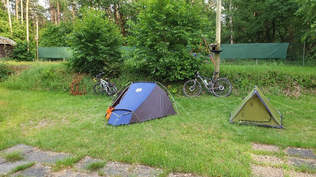 Dag 5 fietsen naar Berlijn, paupercamping