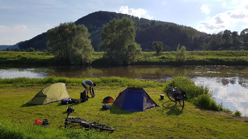 Dag 6 fietsen naar Berlijn, kamperen in Höxter