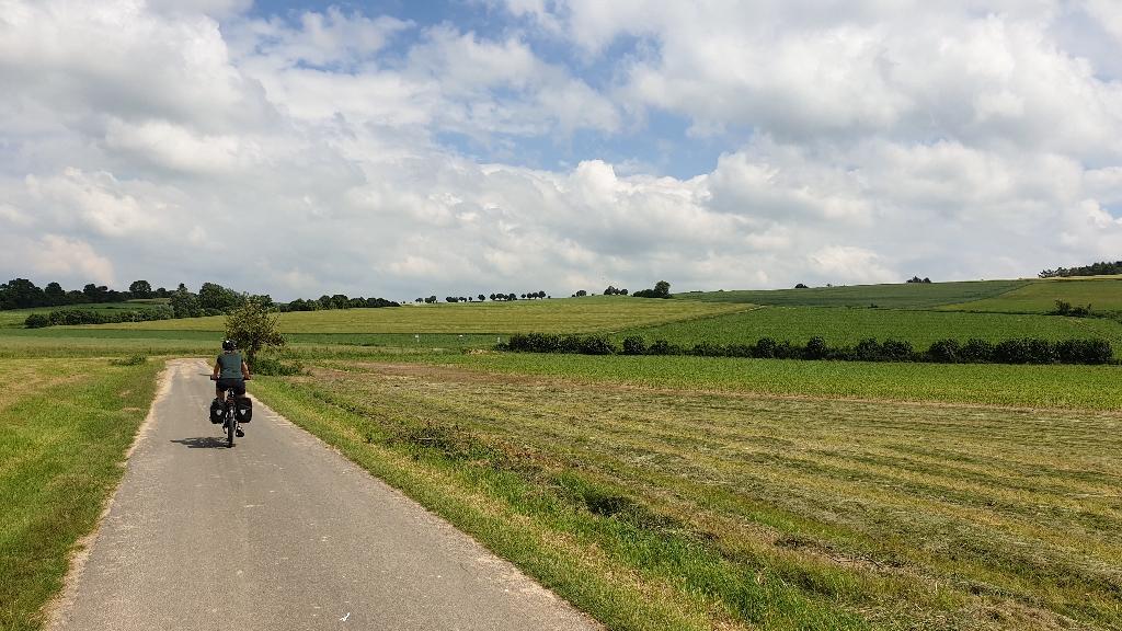 Dag 6 fietsen naar Berlijn, weidse landschappen