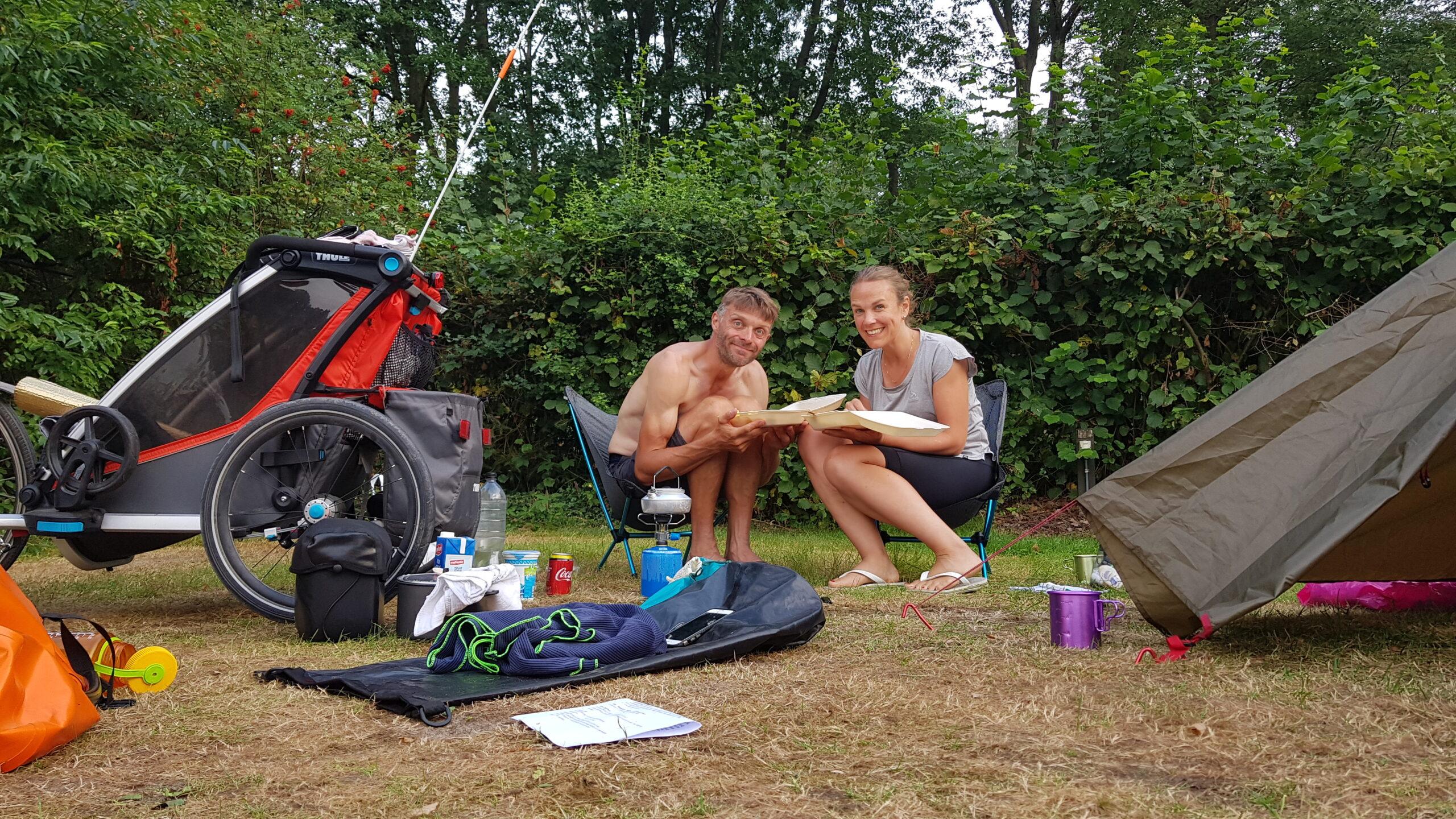 Afhaalschnitzel op de camping