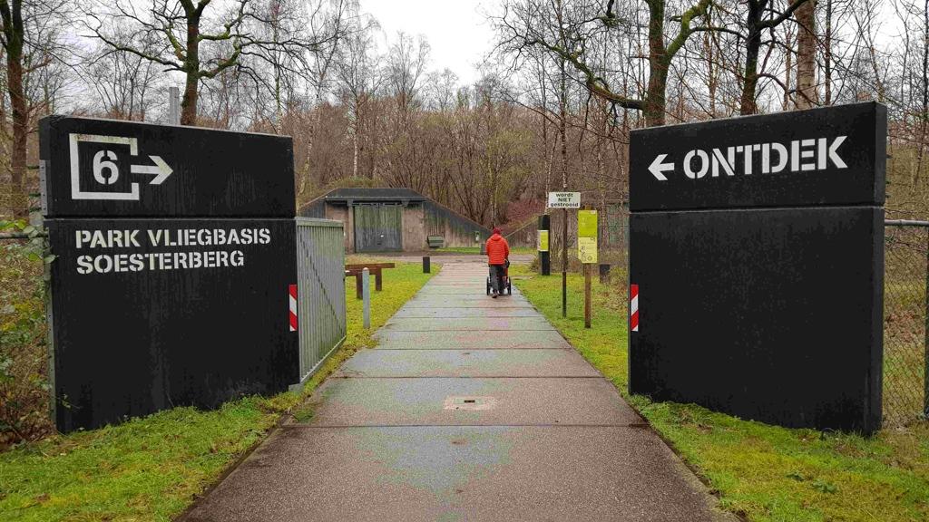Trekvogelpad etappe 10, ingang vliegbasis Soesterberg