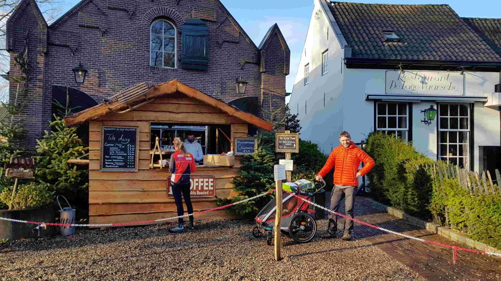 Trekvogelpad etappe 10, koffie en thee to go Lage Vuursche