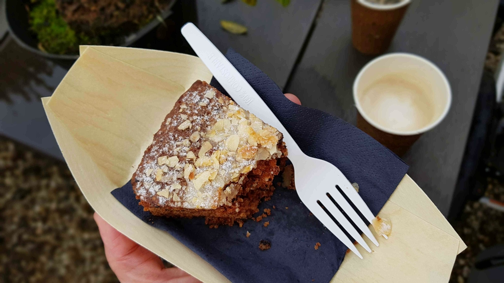 Trekvogelpad etappe 9 Grandcafé Groeneveld carrotcake