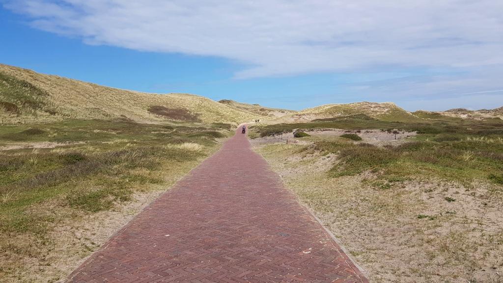 Ronde van Nederland op de fiets met baby Lotje, wind in de rug
