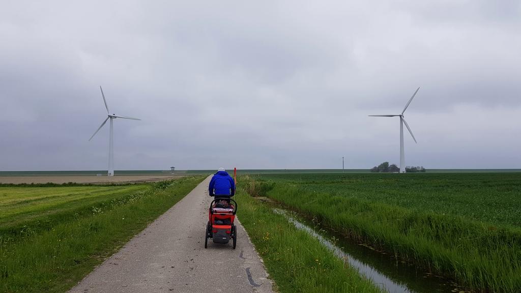 Rondje Nederland JP fietsen en windmolens