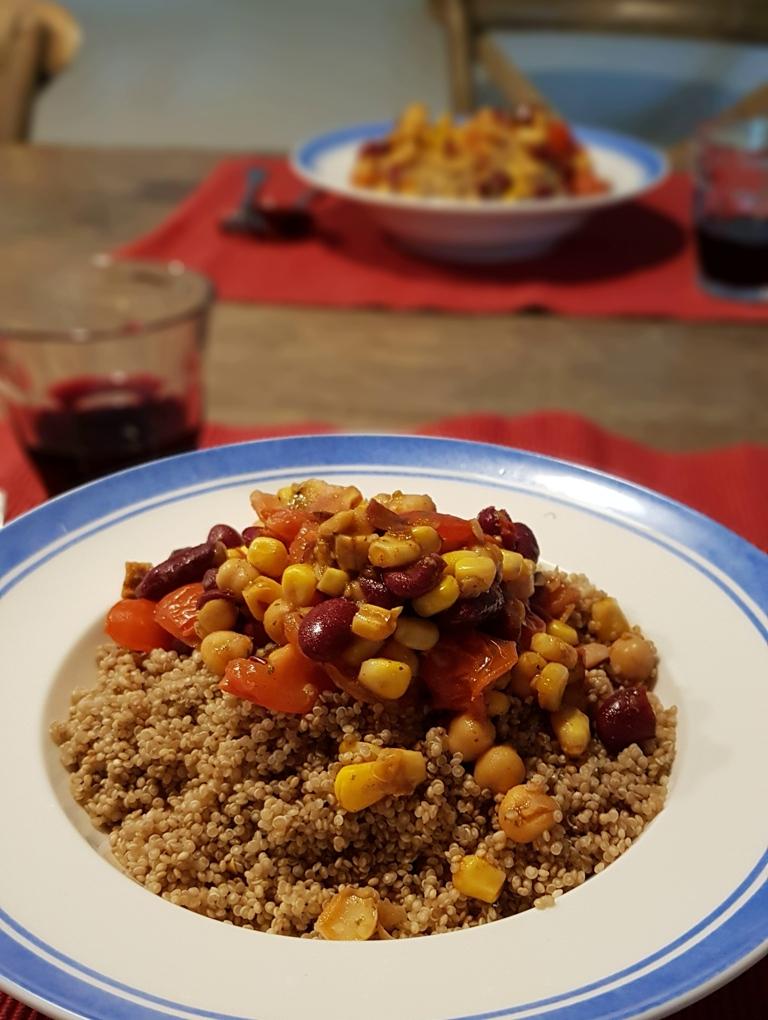 Rondje Nederland quinoa bonenschotel