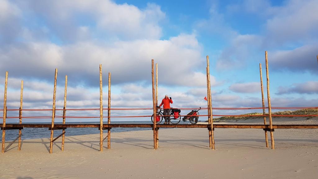 Steiger fietsovertocht Texel naar Vlieland