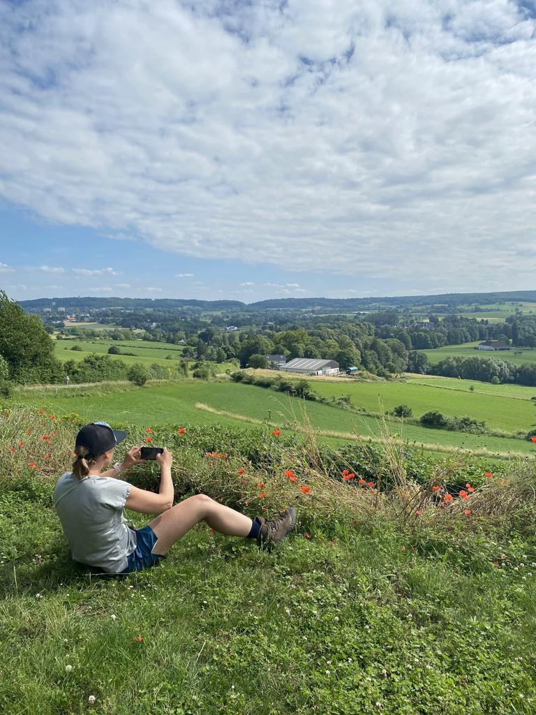 Foto's maken vanaf het terras Belle Vue, DMT