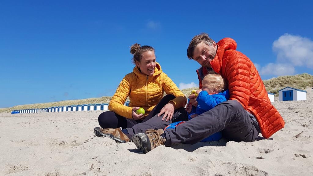 Fietsvakantie in Nederland strand Texel
