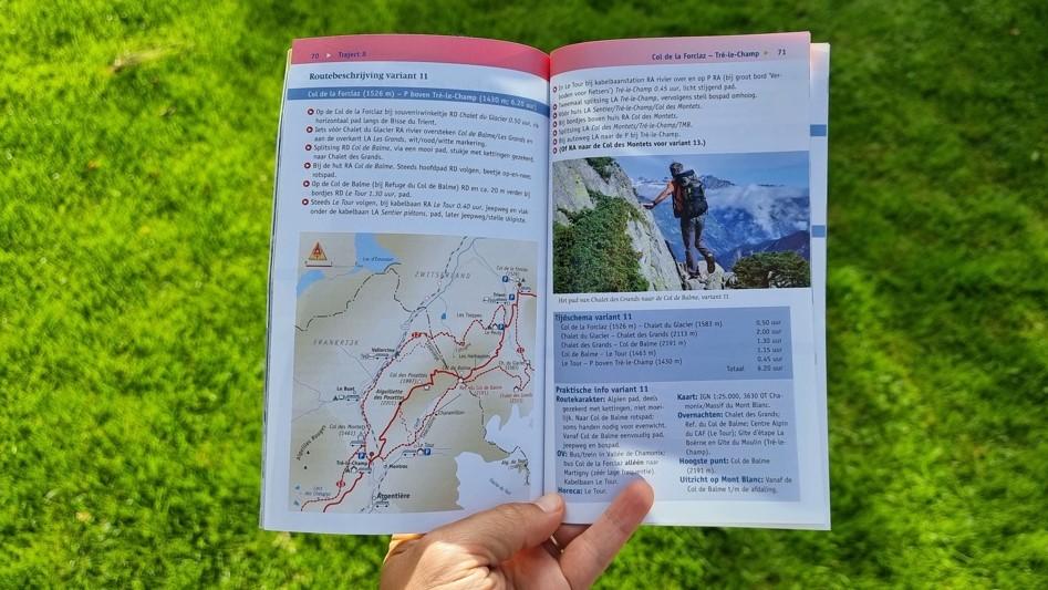 Routeboekje Noes Lautier Tour du Mont Blanc binnenzijde
