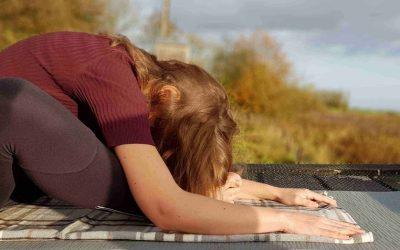 Yin yoga bij de Boerderijopvang in Luttelgeest
