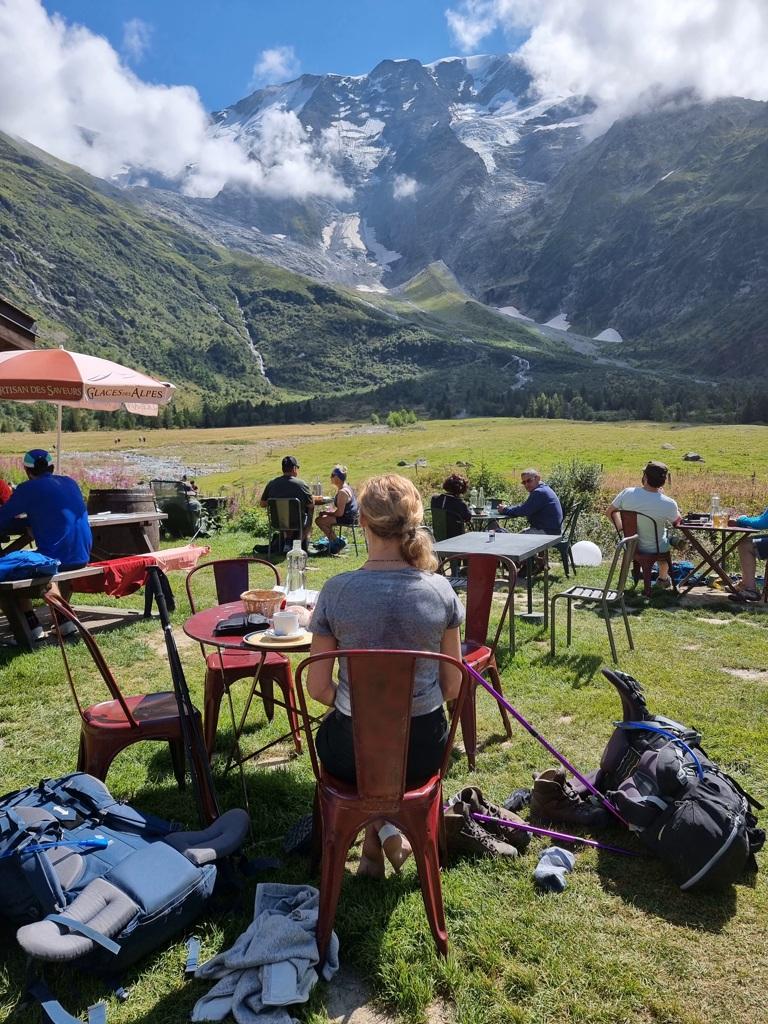 Tour du Mont Blanc dag 1 Refuge de Miage
