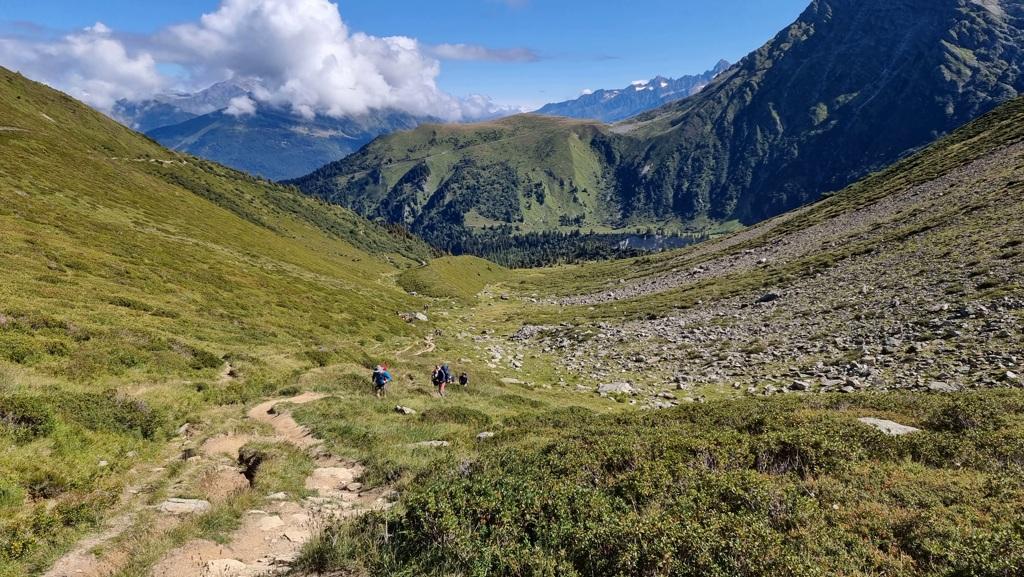 Tour du Mont Blanc dag 1 onderweg naar Col du Tricot