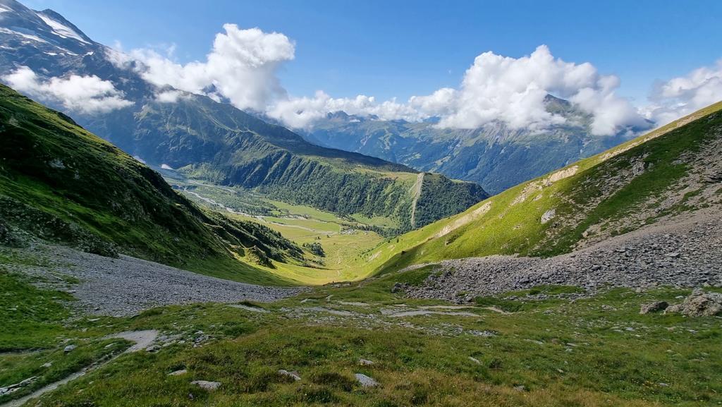 Uitzicht vanaf Col du Tricot TMB